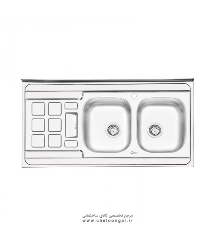 سینک ظرفشویی کد 3021 ایلیا استیل
