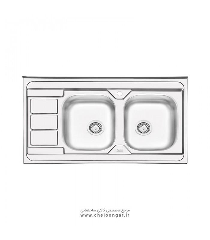 سینک ظرفشویی کد 3051 ایلیا استیل