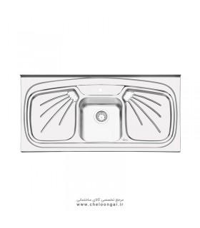 سینک ظرفشویی ایلیا استیل کد 1011