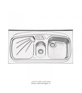 سینک ظرفشویی ایلیا استیل کد 1012