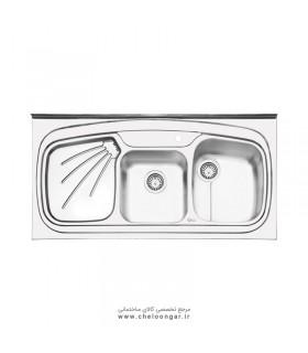 سینک ظرفشویی ایلیا استیل کد 1013