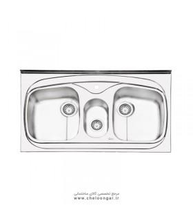 سینک ظرفشویی ایلیا استیل کد 1014