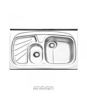 سینک ظرفشویی ایلیا استیل کد 1018