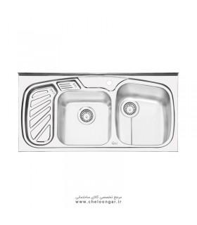 سینک ظرفشویی ایلیا استیل کد 1020