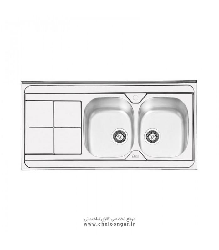 سینک ظرفشویی کد 1041 ایلیا استیل