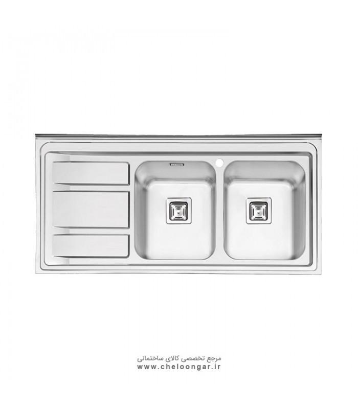 سینک ظرفشویی کد 1068 ایلیا استیل