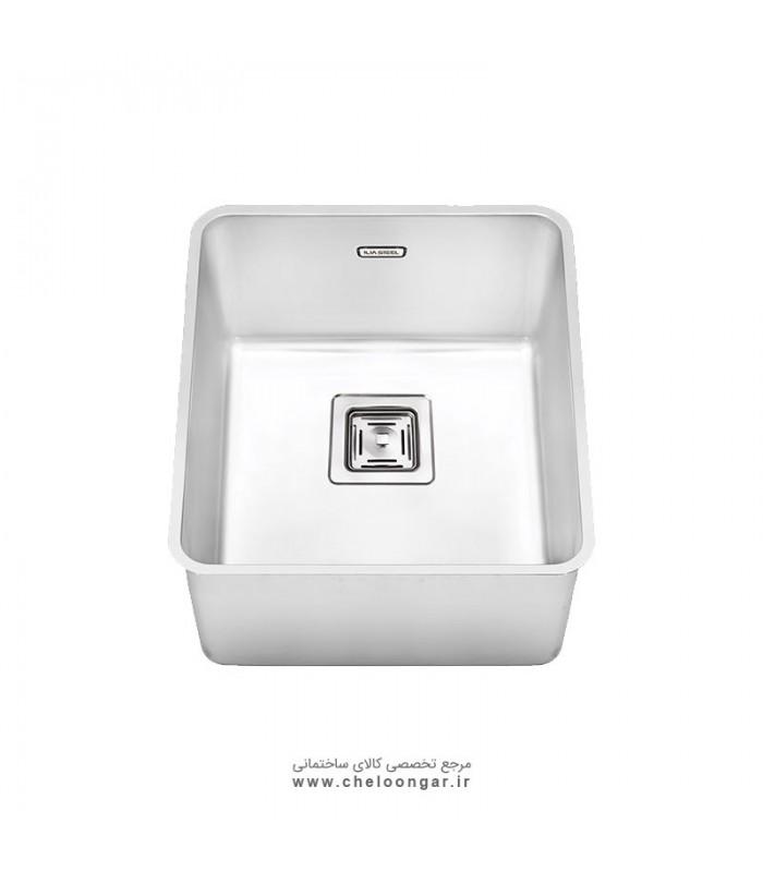 سینک ظرفشویی زیر صفحه ای کد 6004 ایلیا استیل