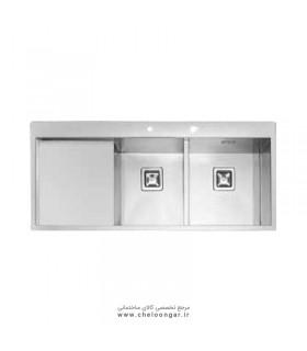 سینک ظرفشویی زیر صفحه ای ایلیا استیل کد 6030