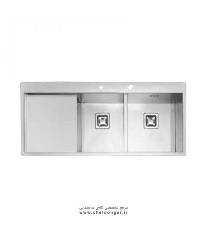 سینک ظرفشویی زیر صفحه ای کد 6030 ایلیا استیل