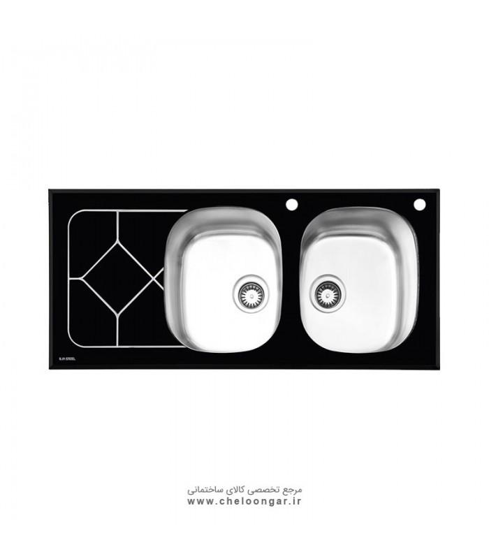 سینک ظرفشویی شیشه ای کد 8012 ایلیا استیل