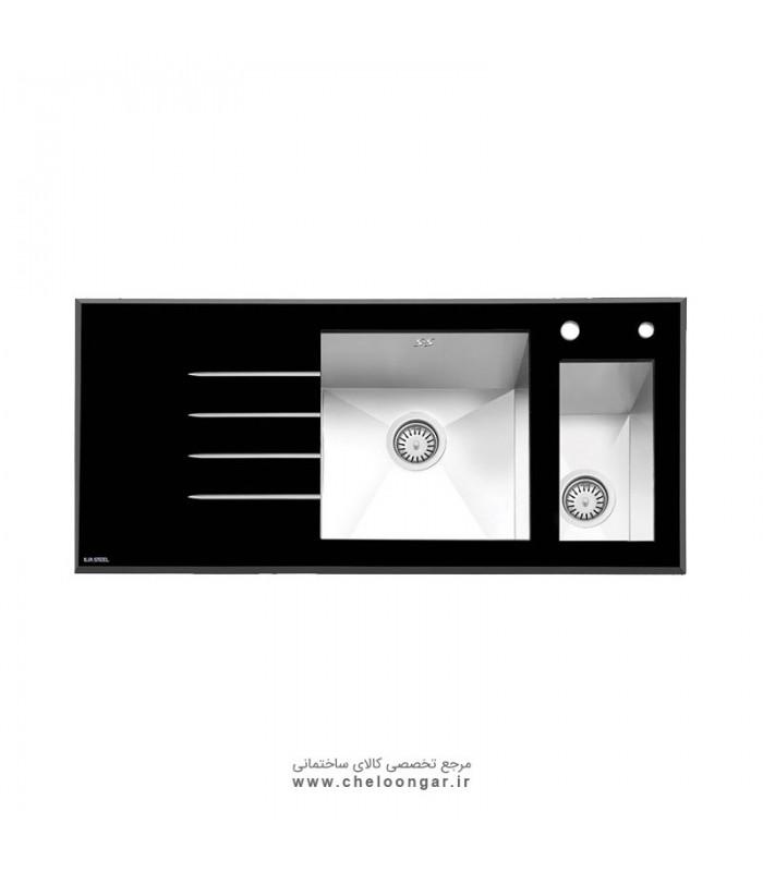 سینک ظرفشویی شیشه ای کد 8023 ایلیا استیل