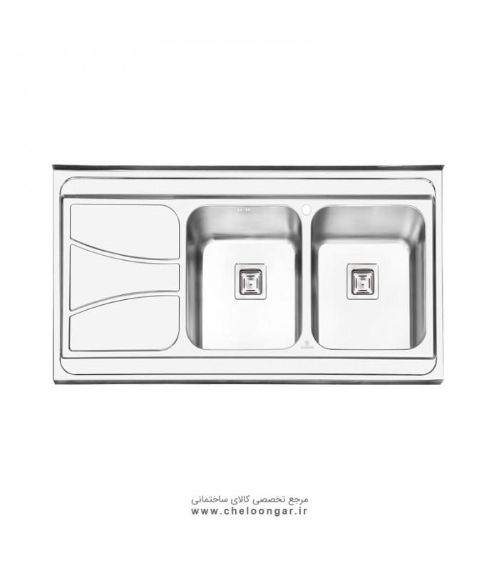 سینک ظرفشویی پرنیان استیل مدل PS1112