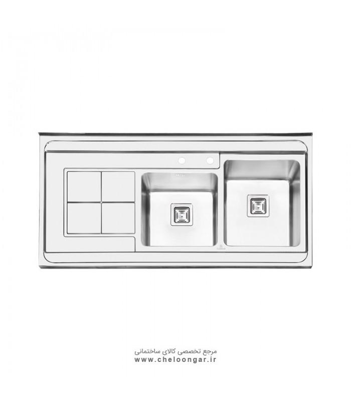 سینک ظرفشویی پرنیان استیل مدل PS1113