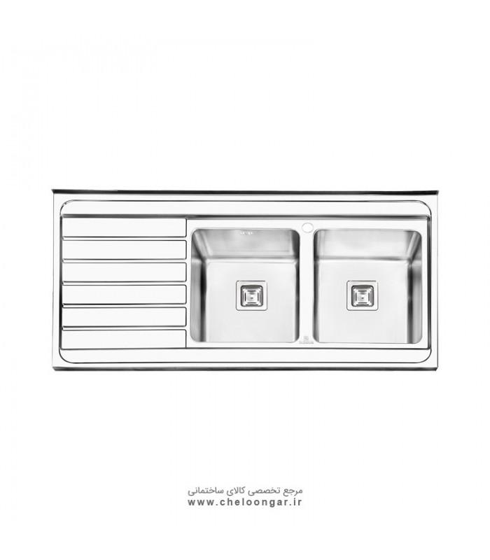 سینک ظرفشویی پرنیان استیل مدل PS1114