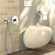 شیر توالت توکار فلور کلاسیک کلارپویا
