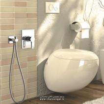 شیر توالت توکار فلت کلاسیک کلارپویا
