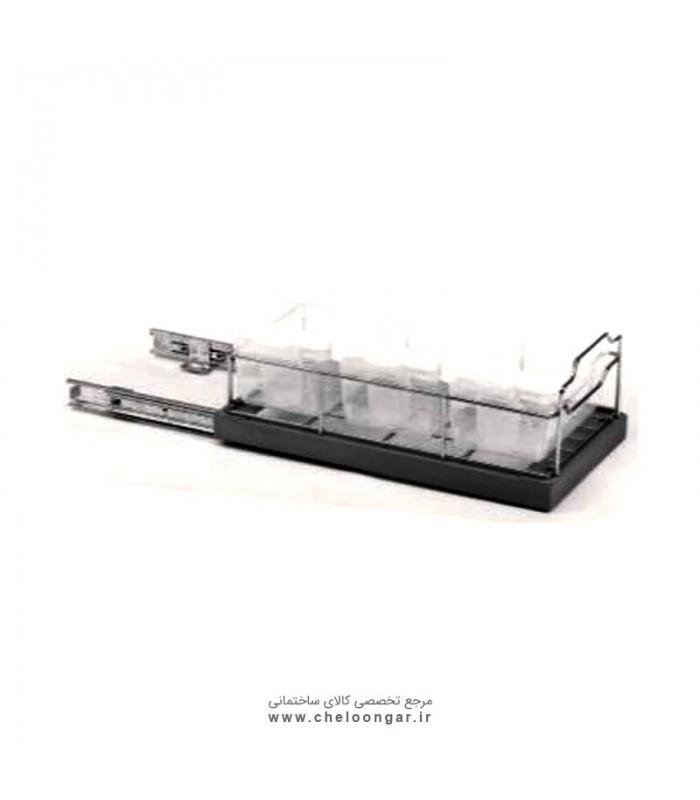 سبد مواد شوینده پهلو با قابلیت نصب به درب عمق 40 ستین 2 ادلان