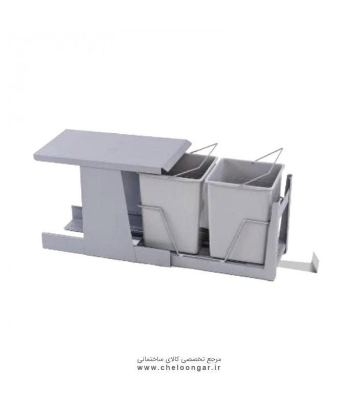 سطل زباله تک مخزنه ریلی متوسط (17لیتری)-میشا ادلان