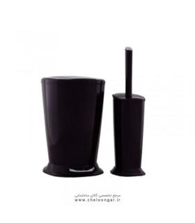 برس توالت و سطل پدالی ایمن آب مدل ونیز