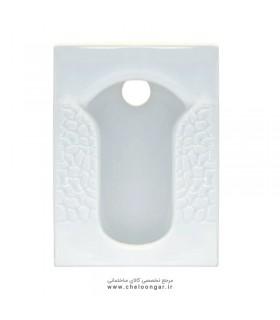 سنگ توالت ایرانی گاتریا مدل تایتان مرمری کوچک