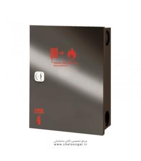 جعبه آتش نشانی درب استیل دودی پیشرو عمودی (دو کابین نک درب)
