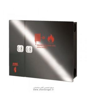 جعبه آتش نشانی درب استیل دودی پیشرو افقی (دو کابین دو درب)
