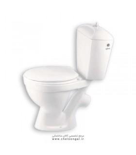 توالت فرنگی دو تکه آرمیتاژ مدل گلرخ 45