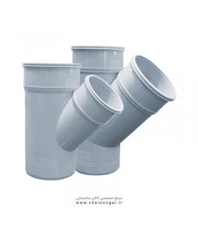 سه راه 45 درجه مدل پلاستیک